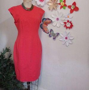 BANANA REPUBLIC BRAND DRESS SIZE M ORANGE COLOR